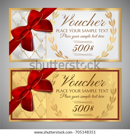 fake money gift certificate template - royalty free gift certificate voucher coupon