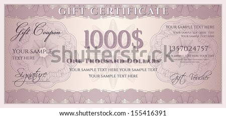 Free 100 dollar bill vector template download free vector art voucher gift certificate coupon ticket template guilloche pattern watermark spirograph pronofoot35fo Choice Image