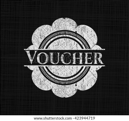 Voucher on blackboard