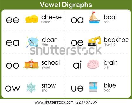 Vowel Digraphs Worksheet for kids