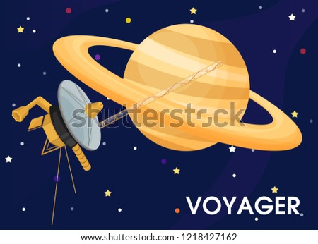 Voyager. The spacecraft was sent to explore Saturn's rings.