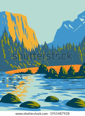 Voyageurs National Park Located in Northern Minnesota near the Canadian Border WPA Poster Art Photo stock ©