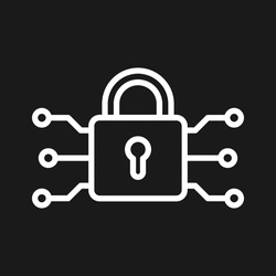 Vpn, encryption, security icon vector image. Can also be used for internet security. Suitable for use on web apps, mobile apps and print media.