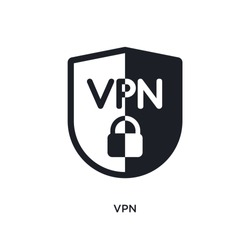vpn isolated icon. simple element illustration from technology concept icons. vpn editable logo sign symbol design on white background. can be use for web and mobile