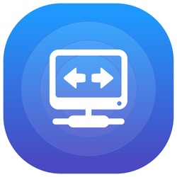 VPN Purple - blue circular UI/UX App Icon / Logo Design
