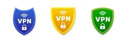 VPN shield concept. Vector illustration icon.