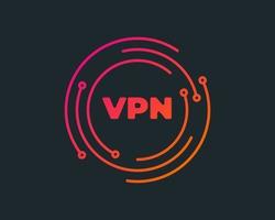 VPN - virtual private network icon. Simple symbol. Outline modern design element. Simple black flat vector sign