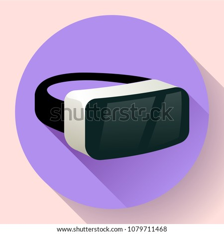 VR Glasses icon or virtual reality helmet icon vector. flat virtual reality headset icon for computer, phone or smart phone. vr goggles