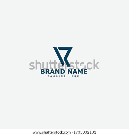 VR Letter Logo Design Template Vector Photo stock ©