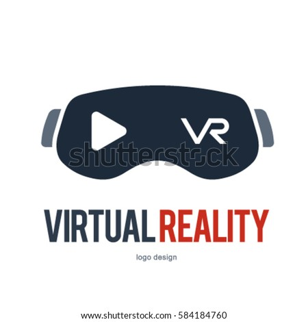 vr virtual reality logo icon