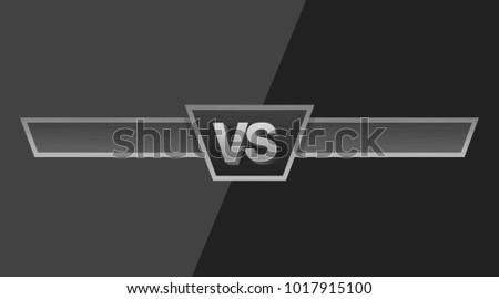 vs duel challenge vector