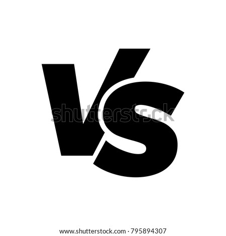 VS versus letters vector logo icon isolated on white background. VS versus symbol for confrontation or opposition design concept Stock fotó ©