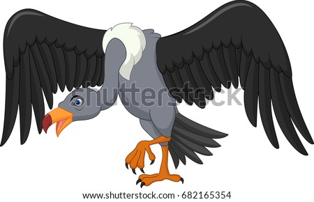 Vulture bird cartoon