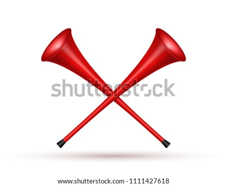 Vuvuzela trumpet football fan. Soccer vector sport play fan symbol with vuvuzela or trumpet design.