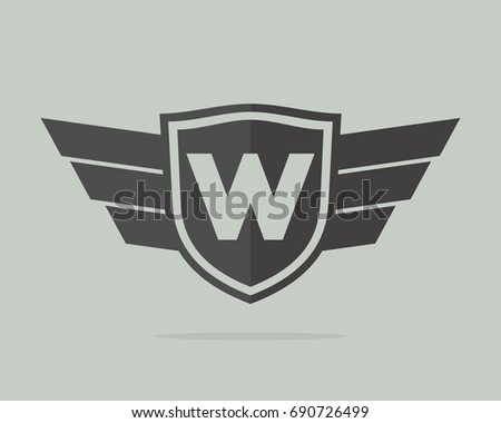 w initial badge team template