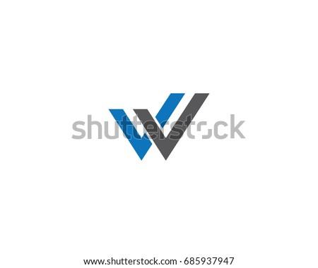 W Letter Logo Business Template Vector icon Zdjęcia stock ©