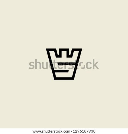 W letter ws logo vector icon Zdjęcia stock ©