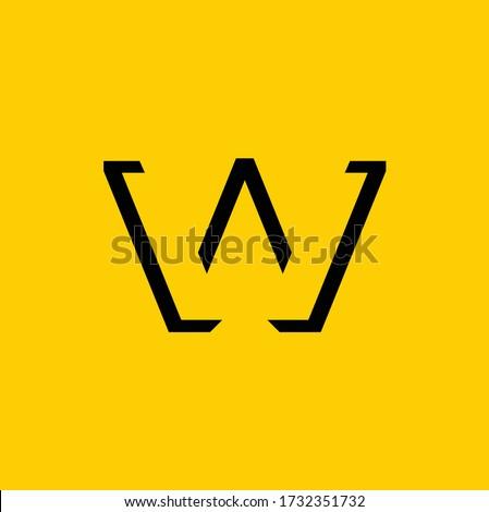 W logo design, W Vector letter. Zdjęcia stock ©