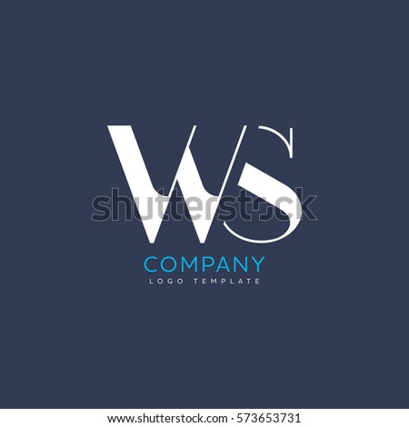 W S Letter logo Design Zdjęcia stock ©