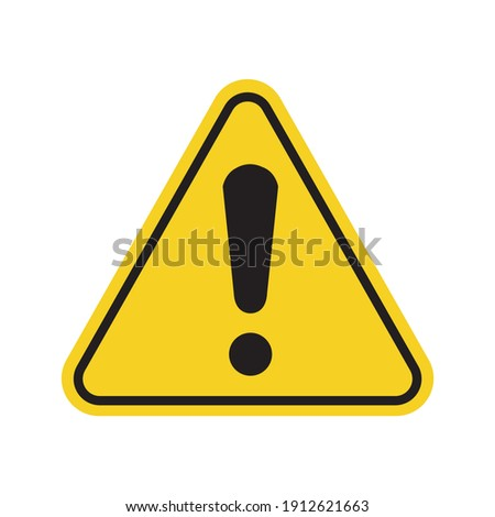 W 09 sign for print. General warning symbol. Yellow safety icon.