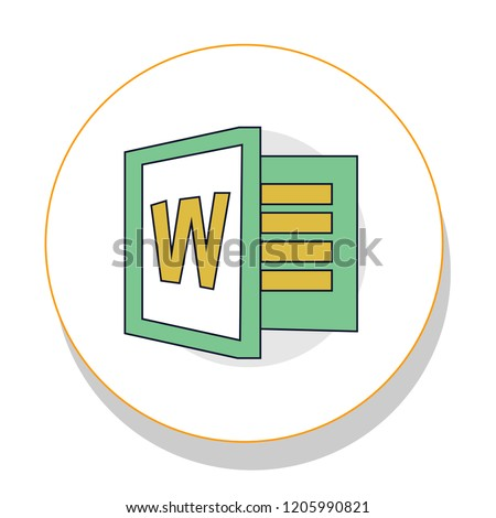 w word trendy icon on white background for web graphic