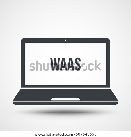 waas text on laptop screen