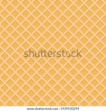 Wafer seamless pattern texture background. Vector Illustration EPS10 Сток-фото ©