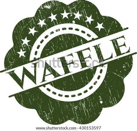 Waffle rubber grunge texture stamp