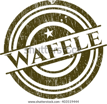 Waffle rubber seal with grunge texture