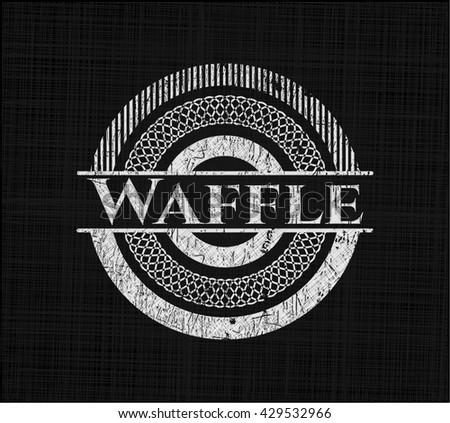 Waffle written on a blackboard
