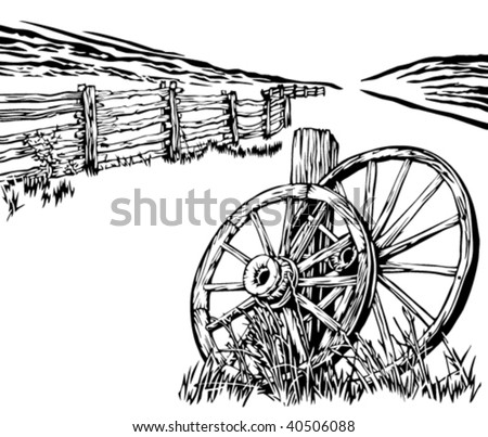 Related Keywords amp Suggestions For Old Wagon Wheel Drawing