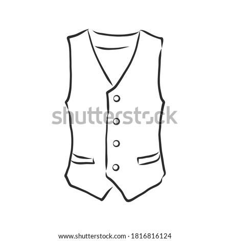 Waistcoat vector sketch icon isolated on background. Hand drawn Waistcoat icon. classic vest, vector sketch illustration Stock photo ©