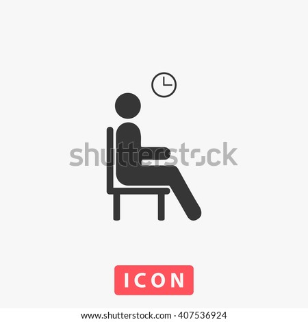 wait icon wait icon vector
