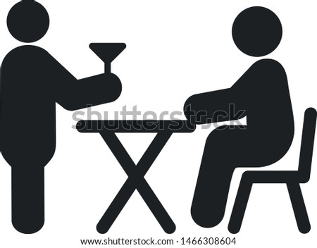 Dinner Served by a Waiter - Download Free Vectors, Clipart