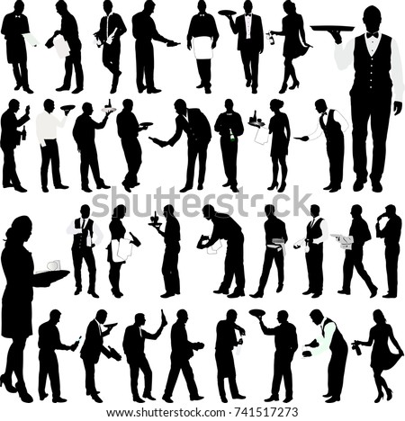 waiters and waitresses big collection - vector Stockfoto ©