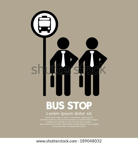 waiting at a bus stop vector