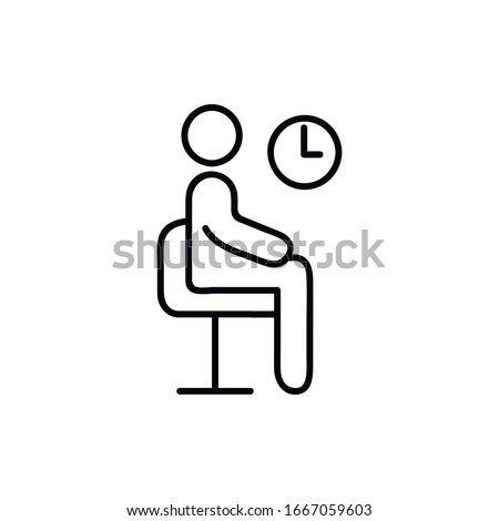Waiting room line icon, outline vector sign, linear style pictogram isolated on white. Symbol, logo illustration. Pixel perfect vector graphics Stockfoto ©