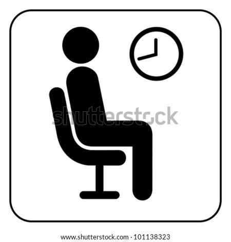 Waiting symbol, vector - stock vector