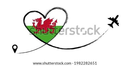 wales flag   england   travel