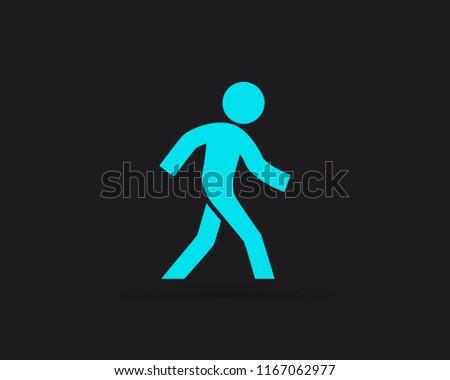 walk icon  walking man vector