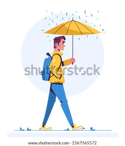walk in rainy day flat
