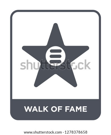 walk of fame icon vector on white background, walk of fame trendy filled icons from United states of america collection, walk of fame vector illustration