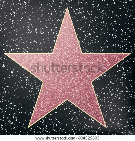 Walk of fame star.