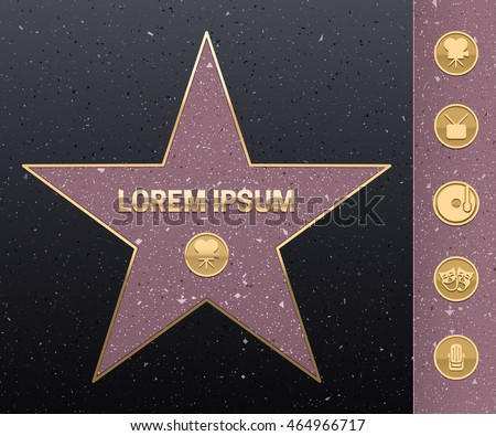 walk of fame star illustration