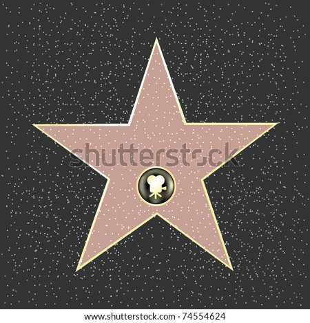 walk of fame type star  vector