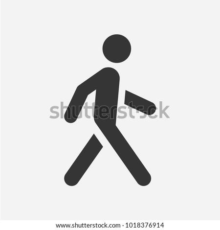 Walking man. Vector icon