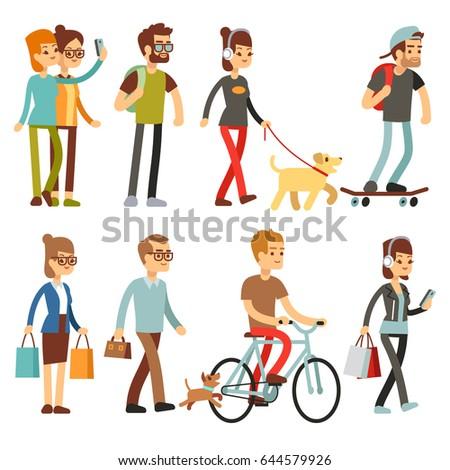 walking people human persons