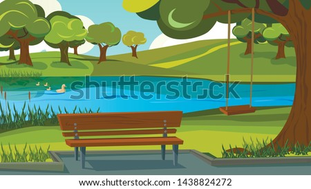 walking track in park wooden
