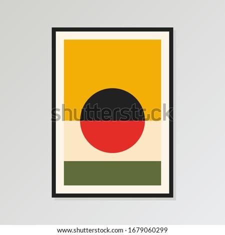wall art print  bauhaus poster