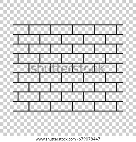 wall brick icon in flat style